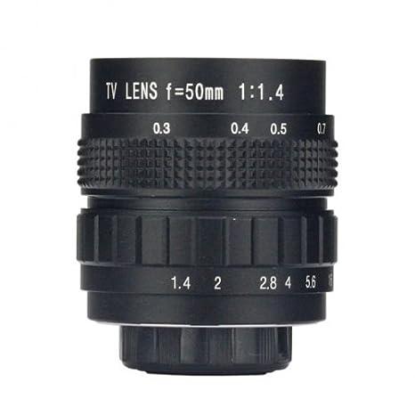 Das Gut WD5014M Objectif CCTV f/1.4 montage C 50 mm Noir