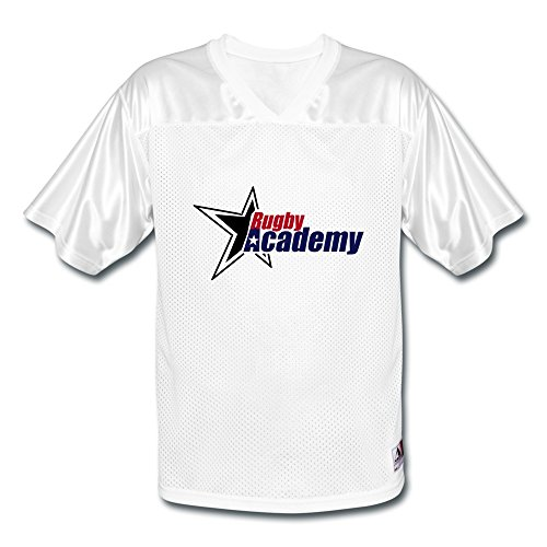 Lzf Men'S Rugby American Football Jerseys Xl White