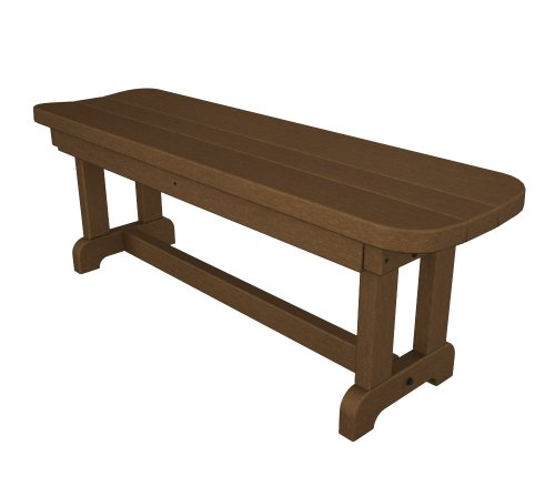 POLYWOOD PBB48TE Park 48″ Backless Bench, Teak