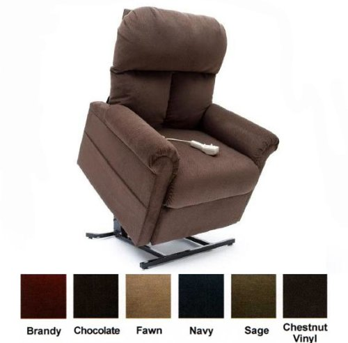Mega Motion Power Easy Comfort Lift Chair Lifting Recliner LC-100 Infinite Position Rising Electric Chaise Lounger - Chocolate Brown Color Fabric (Mega Motion Infinite Position compare prices)