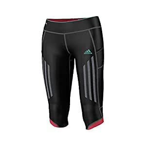 adidas Damen 3/4 Tights Supernova, schwarz/rot, XS, Z23010
