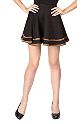 Aaliya Woman's Cotton jerseySkirts- Black-XL