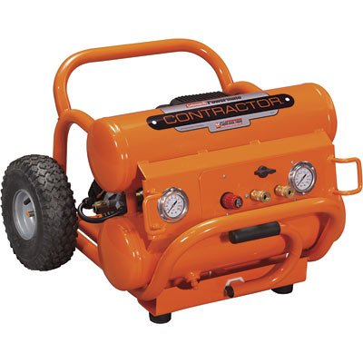 Buy Coleman Powermate Contractor-Series Twin-Stack Air Compressor – 7.3 CFM @ 40 PSI; 5.4 CFM @ 90 PSI, Model# CSA1480512