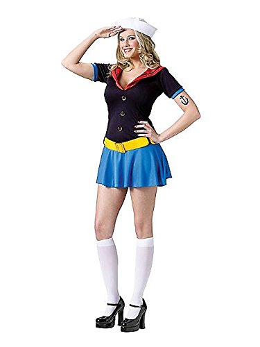 Ms. Popeye Costume - Small/Medium - Dress Size 2-8