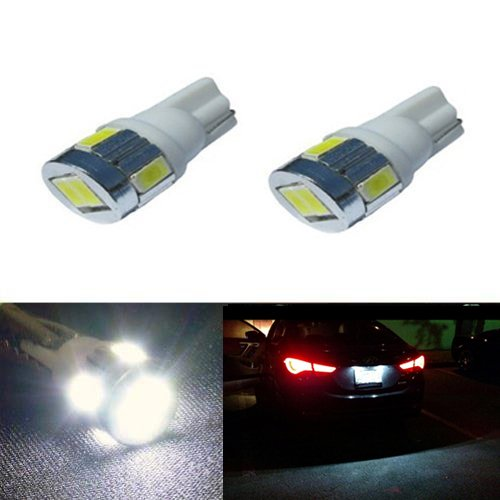 JDM ASTAR Extremely Bright 5730 SMD 194 168 175 2825 W5W T10 LED Bulbs,Xenon White (1999 Jeep Factory Service Manual compare prices)