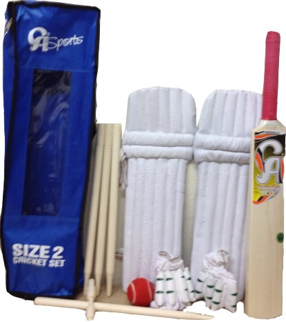 CA Kids Starter Cricket Set Bat, Ball, Stumps, Pads Gloves Set Size 2