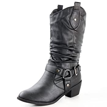 You will be making headlines when you punch up your style with these western-style boots! Your arresting new style will be the hot topic on everyoneâ€TMs lips. They canâ€TMt help but admire the easy pull-on tabs of your cowboy-inspired boots. Featuri...