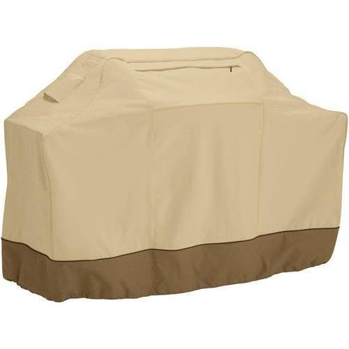 "Classic Accessories 73912 Veranda Grill Cover, Fits Cart Bbqs Up To 58""Lx24""Wx48""H, Polyester, Pebble, Earth, Bark"