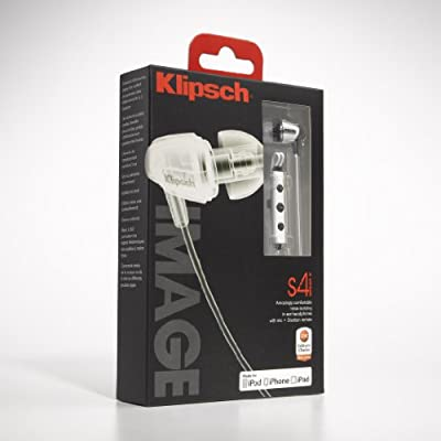 Klipsch IMAGE S4i-WH Premium Noise-Isolating Headset with 3-Button Apple Control, White