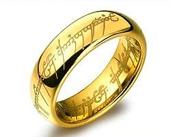 Sorella'Z Golden Stainless Steel Unisex Ring
