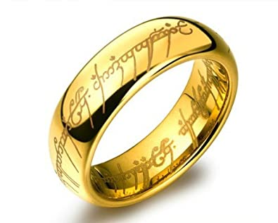 lord of the rings ring for men golden - Lord Of The Rings Wedding Ring