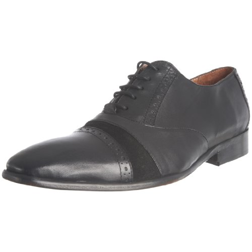 JG Men's Caston Black/Black Suede Lace Up 1340 9.5 UK