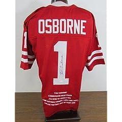 Tom Osborne Signed Jersey - Stat JSA W387772 - Autographed College Jerseys