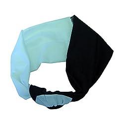 Black & White Knotted 2 Colors Headwrap Turban Boho Fashion Headwrap (Motique Accessories)