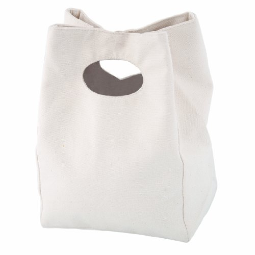 Natural Colored 100% Cotton Lunch Bag with Snap Closure, By Bags for LessTM - 1