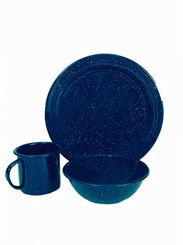 Granite Ware 0207-4 Dinnerware Set, 3-Piece (Enamel Dinner Ware compare prices)