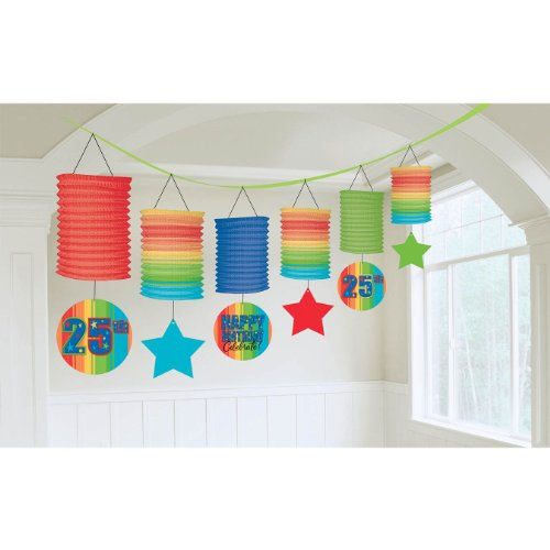 Amscan A Year to Celebrate Theme Fascinating Lantern, Multicolored, 12""