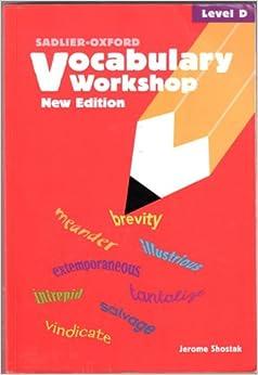 Sadlier oxford vocabulary workshop level c unit 5