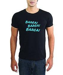 LaCrafters Mens Tshirt - Football tshirts - FC Barca tshirts, FC Barcelona tees, Barca tshirts, Messi tshirts_Black_L