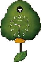 RHYTHM(リズム時計) 【高音質電子音式】 グレースカッコー413R 《日本組立》 木枠/緑半艶仕上 4MJ413RH05