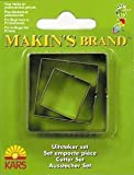 Makin's Brand Set of 3 Square Cutters (2-4cm)