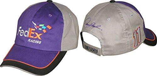 checkered-flag-nascar-2015-fan-up-hats-denny-hamlin-11-fedex