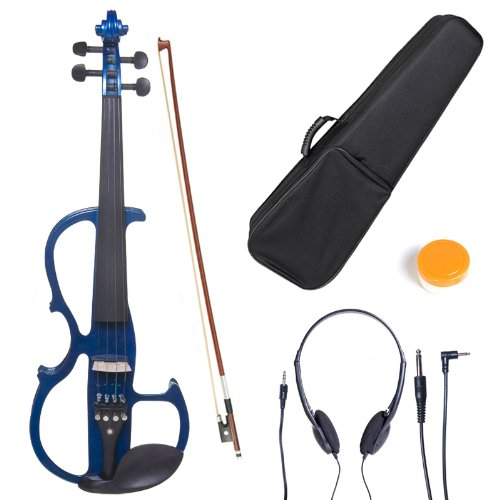 cecilio-l1-2cevn-l2bl-left-handed-solid-wood-blue-metallic-electric-violin-with-ebony-fittings-in-st