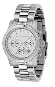 Michael Kors MK5076 Women's Stainless Steel Quartz Chronograph Silver Tone Dial Watch