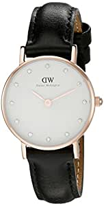 Daniel Wellington Women's 0901DW Classy Sheffield Rose Gold-Tone Stainless Steel Watch With Black Leather Band