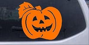 4in X 3.5in Orange -- Jack O Lantern Halloween Other Car Window Wall Laptop Decal Sticker