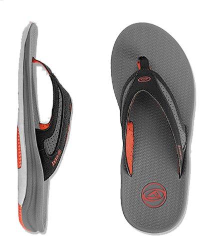Reef Mens Flex Sandal Black/Red/Grey Size 13 front-1069259