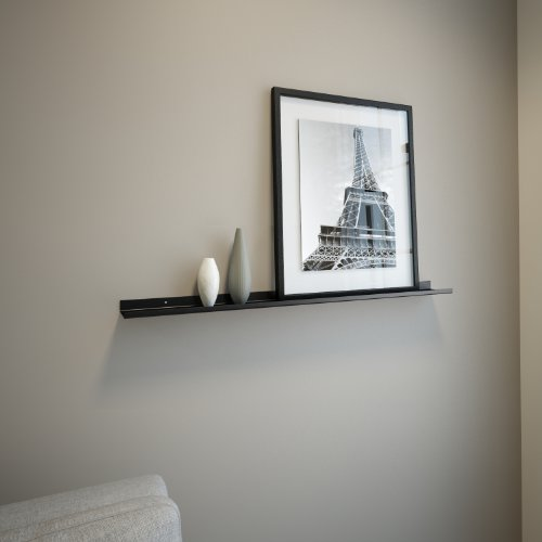 Black Powder Coated Carbon Steel Floating Ledge for Frames, Photos and Pictures, Extra Deep 3.5 (Extra Wide Floating Shelves compare prices)