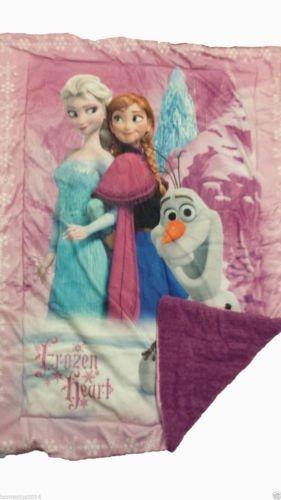 Disney Frozen 2014 Elsa Anna Olaf Baby Plush Soft Sherpa Blanket 41 X 53 Toy, Kids, Play, Children front-778658