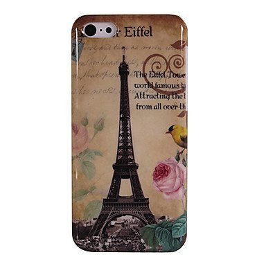 Eiffel Tower and Peony x26 Bird Phone Case [Customizable by Buyers] [Create Your Own Phone Case] Slim Fitted Hard Protector Cover for Samsung Galaxy S5