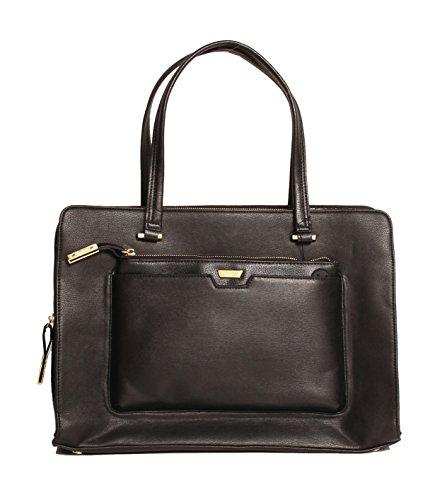 Tutilo Womens Designer Handbags Task Master Frame Tote Shoulder Bag Black (Frames Italian compare prices)