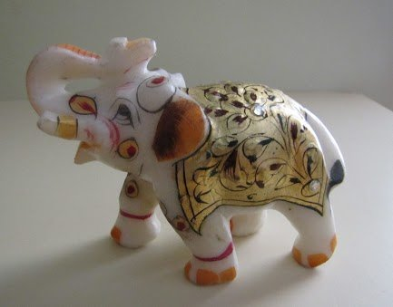 Marble Golden Elephant