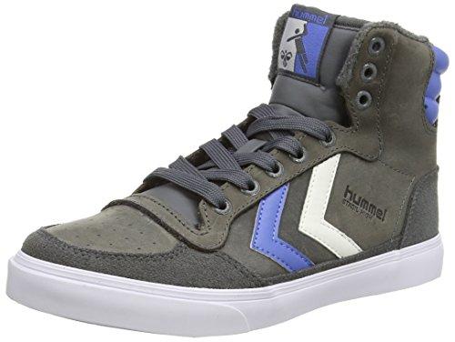 Hummel - Sstadil Oiled Hi, sneakers unisex, grigio(castle rock), 55 EU (5 UK)