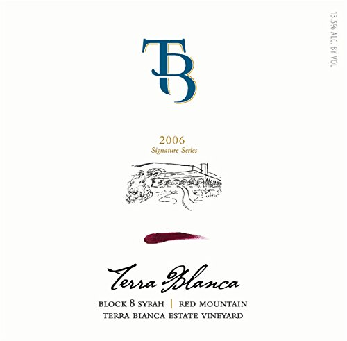 2006 Terra Blanca Signature Series Red Mountain Syrah Block 8 750 Ml