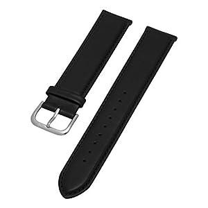 Stuhrling Original Mens 20mm black flat leather strap with steel tang buckle st.768