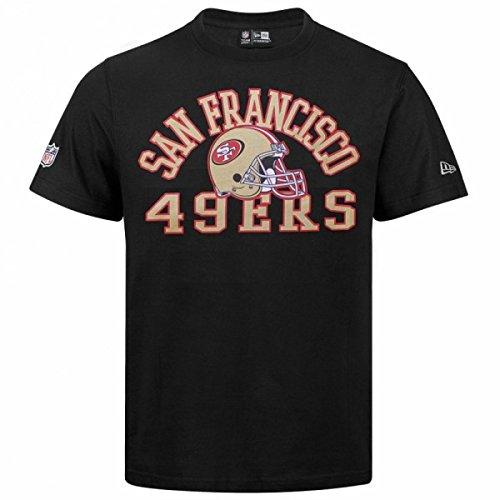 NEW ERA NFL ne96449fa16College Tee saf49e-Maglietta maniche corta-línea San Francisco 49ers per uomo, colore: nero, UOMO, Ne96449Fa16 Nfl College Tee Saf49E, nero, S