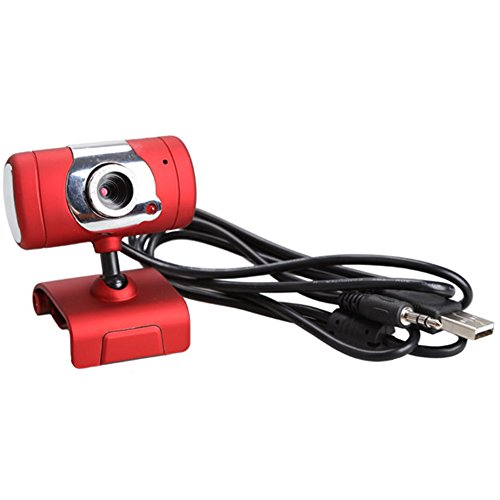Chinatera Red USB 2.0 30M Video Webcam Web Cam With Microphone For Desktop PC Laptop Computer