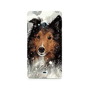 Mobicture Dog Premium Designer Mobile Back Case Cover For Nokia Lumia 540