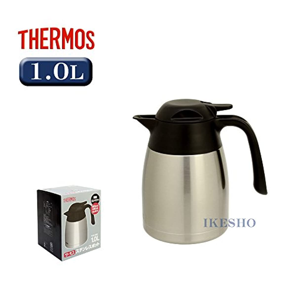THERMOS 스테인레스 포트1.0리터 스테인레스 블랙 THX-1000-