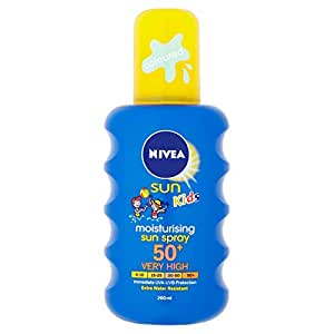 NIVEA Sun Kids Moisturising Sun Spray 50+, Very High - 200 ml