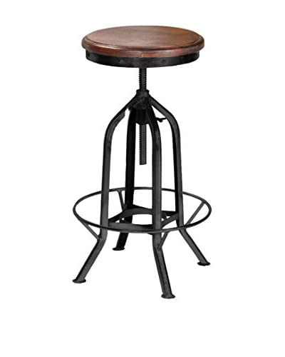 CDI Furniture Tabouret Stool, Brown/Black