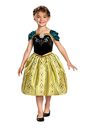 Disguise Disney'S Frozen Anna Coronation Gown Classic Girls Costume, X-Small/3T-4T
