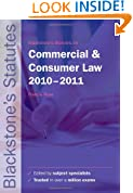 Blackstone's Statutes on Commercial and Consumer Law 2010-2011 (Blackstone's Statute Series)