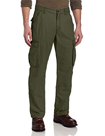 Carhartt Men's  Rugged Cargo Pant, Army Green, 30 x 30