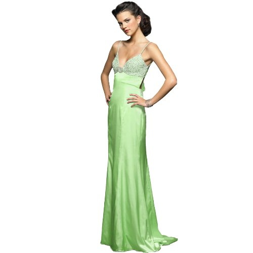 Formal Evening Gown. Beaded Dress for Prom, Party Dress by Sean Collection (70031) Lime M