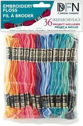 Janlynn Cotton Embroidery Floss Pack 8.7 Yards 36/Pkg Variegated Colors 3001-35; 6 Items/Order
